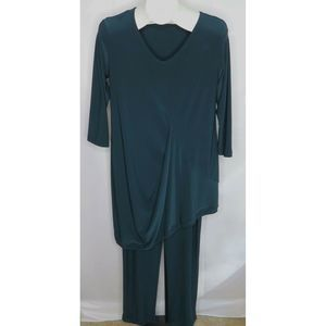 NWOT Sympli Canada Dark Green 2 pc. Pants Tunic 8